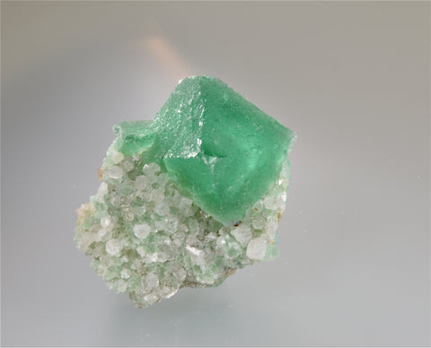 Fluorite, Riemvasmaak, Northern Cape Province, Kakamas District, South Africa, Mined c. 2011, Kalaskie Collection #42-29, Miniature 3.0 x 4.0 x 4.0 cm, $200. Online 11/1