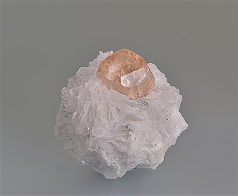 Topaz and Cleavlandite, Shigar Northern Areas, Pakistan, Collected circa 1990, Kalaskie Collection #309, Miniature 4.0 x 5.0 x 5.0 cm, $500.00. Online 6/12.