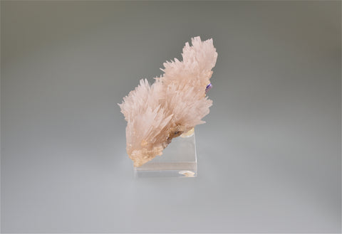 Strontianite, Rosiclare Level, Minerva #1 Mine, Ozark-Mahoning Company, Cave-in-Rock District, Southern Illinois, Mined April 1995, Ralph Campbell Collection, Miniature 4.5 x 5.0 x 8.0 cm, $500. Online 11/3