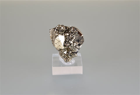 Pyrite, Quirulvica, La Libertad, Peru, Mined c. 1980's, Holzner Collection #387, Miniature 3.0 x 4.5 x 4.5 cm, $25. Online 10/4.