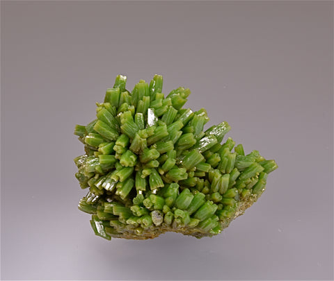 Pyromorphite, Yangshu, Guangxi Province, China, Mined c. 2008, Kalaskie Collection #904, Miniature 3.8 x 5.5 x 7 cm, $2500.  Online 11/7.