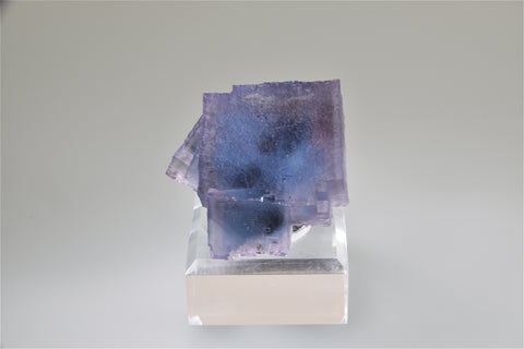 SOLD Fluorite, Rosiclare Level Minerva #1 Mine, Ozark-Mahoning Company, Cave-in-Rock District, Southern Illinois, Mined April 1995, Ex. R. C. Lillie Collection to: Ralph Campbell Collection, Small Cabinet 4.5 x 5.0 x 6.0 cm, $2200.  Online 10/5.