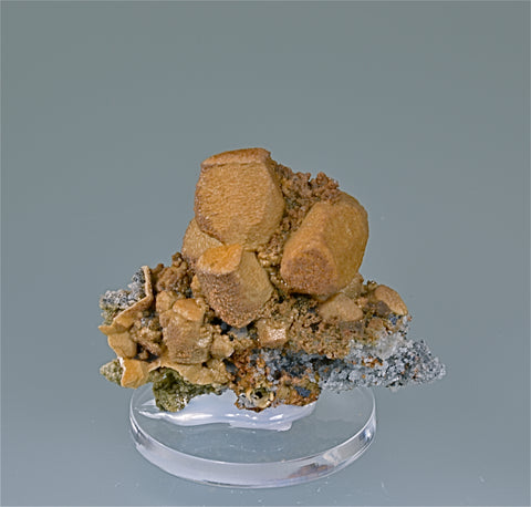 Siderite Cast after Calcite, Aggeneys Mine, Northern Cape Province, South Africa, Mined c. 2007, Kalaskie Collection #632, Miniature 3.0 x 5.0 x 6.5 cm, $200.  Online 11/7.