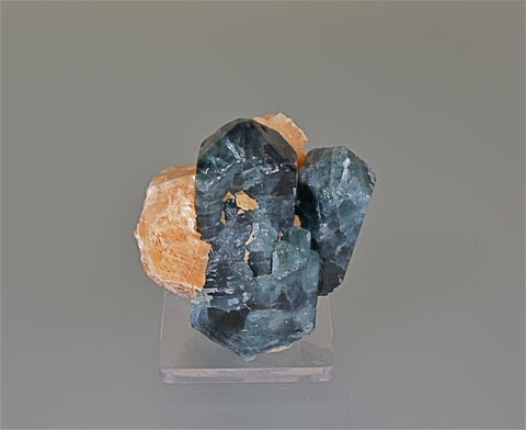 Apatite with Calcite, Slyudyanka, Lake Baikal, Irkutskaya, Prebaikalia, Russia, Collected c. 1992, Kalaskie Collection #827, Small Cabinet 5.0 x 6.5 x 7.0 cm, $450.  Online 11/7.