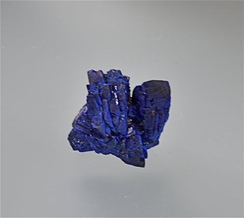 Azurite, Hanover No. 1 Mine, Fierro District, Hanover, New Mexico, Kalaskie Collection #67, Miniature 1.2 x 1.5 x 1.8 cm, $45.  Online 11/7.