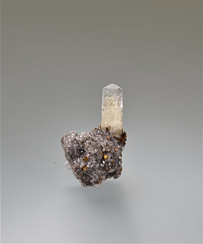 Calcite, Sweetwater Mine, Viburnum Trend, Reynolds County, Missouri, Mined c. 2000s, Kalaskie Collection #717, Miniature 2.2 x 2.5 x 3.5 cm, $25.  Online 11/7.