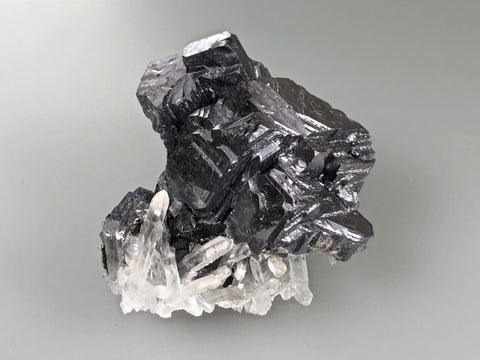 Galena with Quartz and Sphalerite, Kruchev dol Mine, Madan District, Bulgaria, Mined c. 2012, Miniature 4.0 x 5.0 x 7.0 cm, $75.  Online January 30.