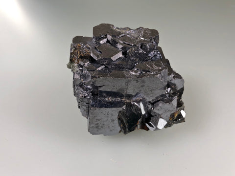 Galena with Sphalerite, Borieva Mine, Madan District, Bulgaria, Mined c. 2012, Miniature 4.0 x 6.0 x 6.2 cm, $25.  Online January 30.