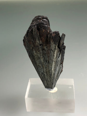 Pyrolusite, Taylor Mine, Alberta, Baraga County, Michigan, ex. Louis Lafayette Collection #218, Miniature, 1.8 x 3.2 x 6.5 cm, $125. Online July 20.