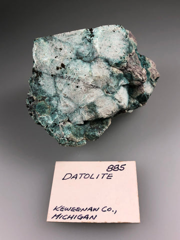Datolite, Centennial Mine #1/#2, Lake Superior Copper District, Houghton County, Michigan, ex. Louis Lafayette Collection #885, Small Cabinet, 5.4 x 6.0 x 7.0cm, $200. Online July 20.