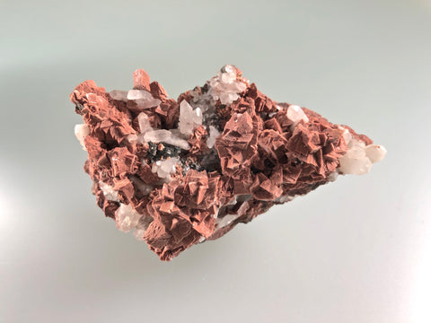 Adularia and Quartz, Ojibway, Lake Superior Copper District, Keweenaw County, Michigan, ex. Louis Lafayette Collection #907, Miniature, 3.5 x 5.0 x 8.5 cm, $250. Online July 20.