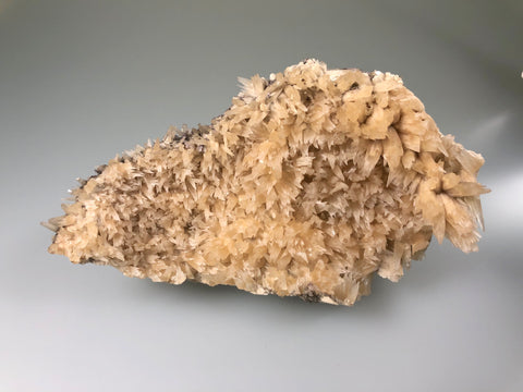 Calcite, Sub-Rosiclare Level, Annabel Lee Mine, Ozark-Mahoning Company, Harris Creek District, Southern Illinois, Mined c. 1989, Ron Roberts Collection BPC-55, Medium Cabinet, 4.0 x 9.5 x 17.0 cm, $30.  Online September 14.