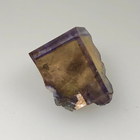 Fluorite, Rosiclare Level, Victory Mine, Spar Mountain District, Southern Illinois, Ron Roberts Collection F-64, Miniature 2.3 x 2.5 x 3.0 cm, $100.  Online September 14.