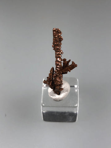 Copper, Champion Mine, Lake Superior Copper District, Houghton County, Michigan, ex. Louis Lafayette Collection, Thumbnail 0.7 x 2.2 cm, $15. Online 12/17