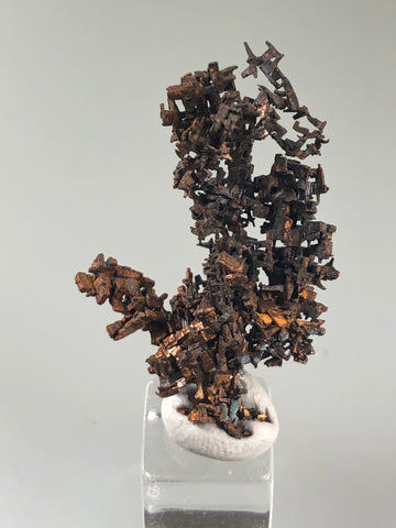 Copper, White Pine Mine, Lake Superior Copper District, Ontonogan County, Michigan, ex. Louis Lafayette Collection, Miniature 0.7 x 2.2 x 3.3 cm, $125. Online 12/17