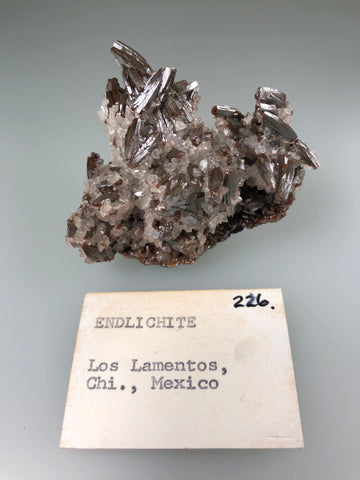 Vanadinite (Endlichite), Los Lamentos, Chihuahua, Mexico, ex. Louis Lafayette Collection #226, Miniature 3.0 x 5.0 x 7.0 cm, $350. Online Jan. 28