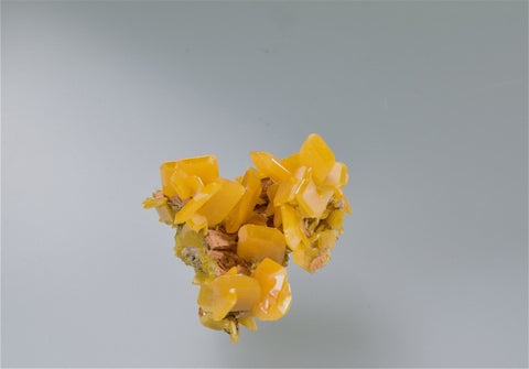 Wulfenite, Touissit, Oujda, Morocco, Mined c. 1980s, Kalaskie Collection #399, Miniature 2.3 cm x 2.5 cm x 2.5 cm, $250.  Online Feb. 28