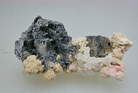 Galena and Rhodochrosite