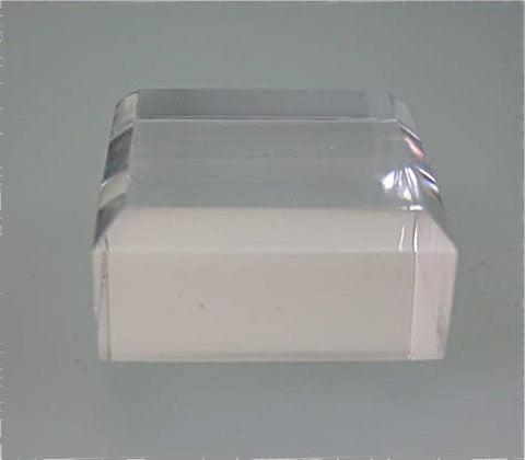 Beveled Square Acrylic Base 3/4 in thick x 2 in x 2 in