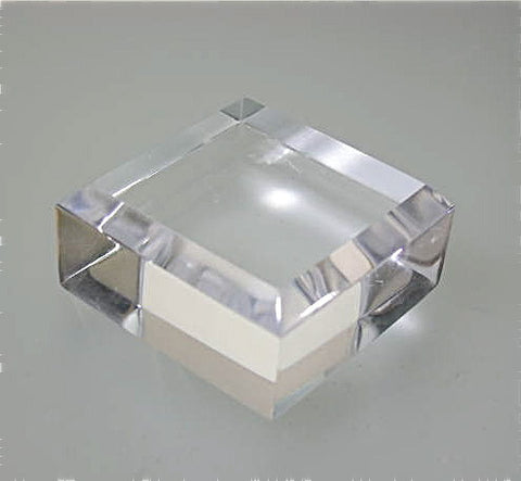 Beveled Square Acrylic Base 3/4 in thick x 1.5 in x 1.5 in