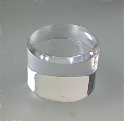 Beveled Round Acrylic Base 1 in thick x 2 inch diameter