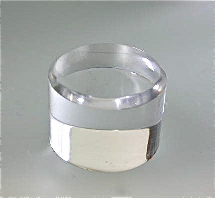 Beveled Round Acrylic Base 3/4 in thick x 1.0 inch diameter