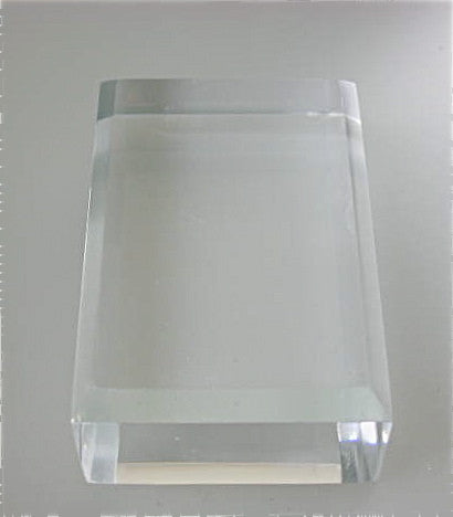 Beveled Rectangle Acrylic Base 1 in thick x 3 in x 4 in