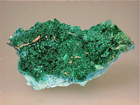 Chalcoalumite and Cyanotrichite with Brochantite, Grandview Mine, Coconino county, Arizona Miniature 3 x 4 x 7 cm  $65. Online July13. SOLD.