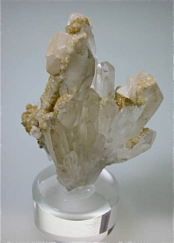 Calcite and Dolomite on Quartz, Trepca Complex, Mitrovica, Kosovska Municipality, Kosovo, Mined 2012, Small Cabinet 4.0 x 5.5 x 6.5 cm, $100.  Online 4/6/15 SOLD