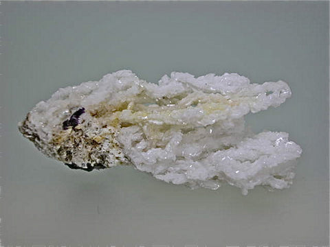 Barite with Fluorite, Rosiclare Level Victory Mine, Spar Mountain Area, Cave-in-Rock District Southern Illinois, Collected c. early 1960s, Dr. Perry & Anne Bynum Collection, Miniature 2.0 x 3.0 x 6.5 cm, $200. Online 7/28.  SOLD.