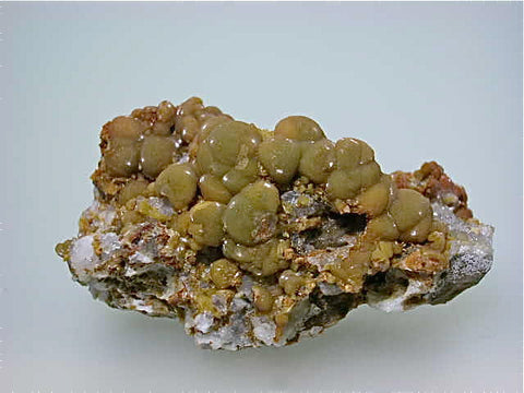 Smithsonite, Rush Creek District, Marion County, Arkansas, Collected c. 1970s, Dr. Perry & Anne Bynum Collection, Miniature 2.7 x 3.5 x 6.5 cm, $100. Online 7/28