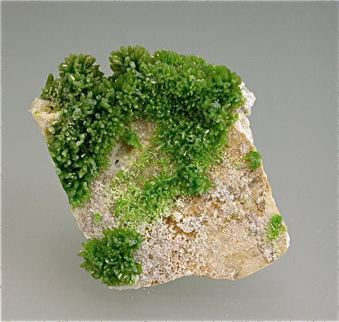Pyromorphite, Beihilfe Mine Group, Saxony, Germany Miniature 2 x 3.5 x 4 cm $450. Online 12/4 SOLD