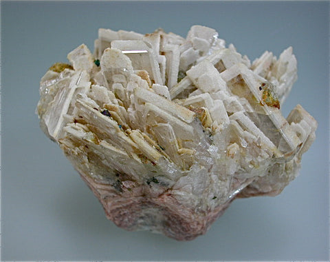 Barite with Fluorite and Chalcopyrite, Wolkenstein Mine No. 137, Saxony, Germany Small cabinet 6 x 7 x 8 cm $450. Online 3/13