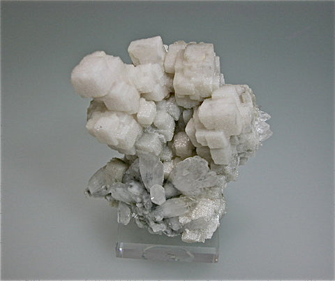 Calcite and Quartz, Trepca Complex, Mitrovica, Kosovo Medium cabinet 7 x 8 x 9 cm $300. Online 3/27. SOLD.