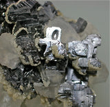 Galena and Calcite, Kruchev dol Mine, Bulgaria Miniature 4 x  4.5 x 6 cm $125
