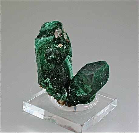 SOLD Malachite after Azurite, Tsumeb Mine, Namibia Miniature 2 x 3 x 4 cm $350. Online 7/22