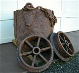 Kibble and Tram Wheels, Petherick Mine, Copper Falls Mining Company, Lake Superior Copper District, Keweenaw County, Michigan $7500.