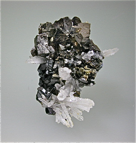 SOLD Arsenopyrite with Sphalerite and Quartz, Trepca Complex, Mitrovica, Kosovo Miniature 2.5 x 4 x 5 cm $125. online 11/18