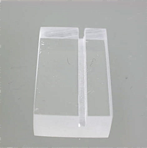 Acrylic Label Holder 3/8 inch thick x 3/4 inch deep x 1.25 inch long, $1.75/each
