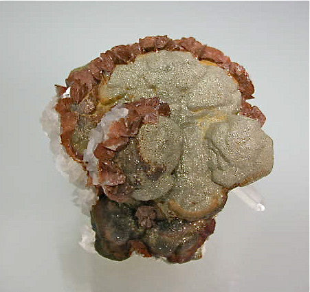 Calcite and Pyrite, Trepca Complex, Kosovska Municipality, Kosovo Small cabinet 5 x 7 x 10 cm $125. SOLD.