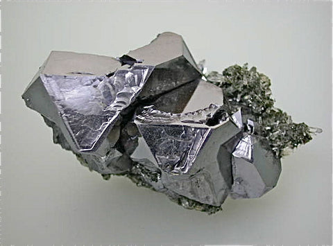 Galena and Quartz, Gjudurska Mine, Zlatograd District, Southern Rhodope Mountains, Bulgaria, Mined 2009, 4.0 x 4.5 x 8.5 cm, $200.  Online 6/2.