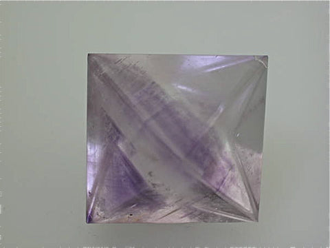 Fluorite Polished Octahedron, attr: Harris Creek District, Southern Illinois, Miniature, 3.5 x 3.5 x 5.0 cm, $100.  SOLD