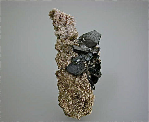 Hematite on Granitic Breccia, Cavradi, Switzerland, William A. N. Severance Collection 0.32, Small Cabinet 2.5 x 3.0 x 7.5 cm, $800.  Online 6/9.