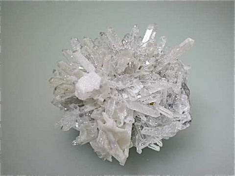 Quartz with Calcite, Kruchev dol Mine, Madan District, Smolyan Oblast, Bulgaria Small cabinet 6 x 7 x 8 cm $280.SOLD