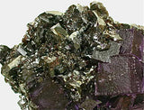Fluorite on Sphalerite, Elmwood Complex, Smith County, near Carthage, Tennessee Medium cabinet 5.5 x 9 x 15 cm $3500. Online 8/18. SOLD.