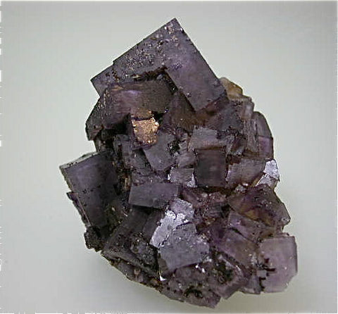 Fluorite attr: Crystal/Victory Mine Complex, Spar Mountain Area, Cave-in-Rock District, Southern Illinois, Mined c. 1950s - early 1960s, Bynum Collection, Small Cabinet 4.0 x 6.0 x 7.5 cm, $85.  Online 8/20. SOLD.