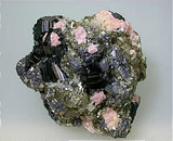 Sphalerite and Dolomite with Pyrite and Quartz, Trepca Complex, Kosovska Municipality, Kosovo, Mined 2014, Small Cabinet 4.0 x 6.5 x 6.5 cm, $100. SOLD