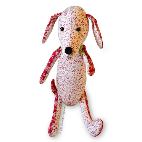 "Dainty Dachshund 12"" Dog Printed Soft Toy Sewing Pattern"