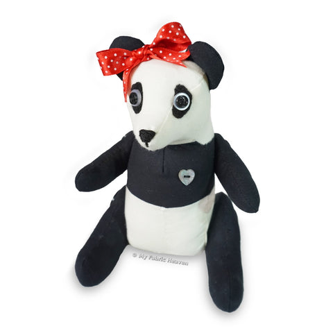 "PeeChee Panda Bear 9"" Paper Soft Toy Sewing Pattern"