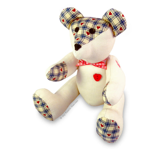 "Teddy Eddy Bear 9"" Paper Soft Toy Sewing Pattern"